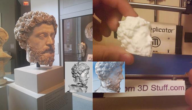 Une statuette de Marc Aurèle du Musée de Baltimore reproduite à l'identique grâce à des Glass