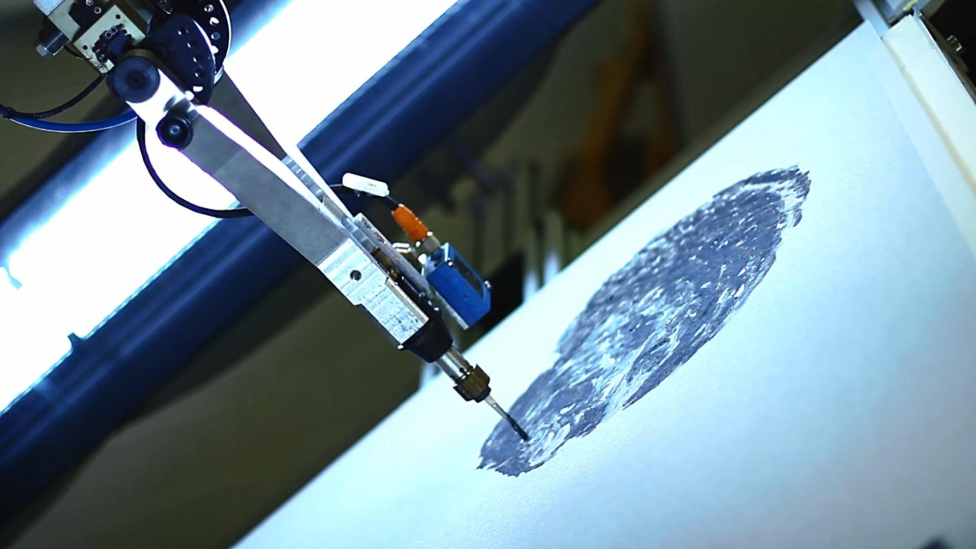 E david le robot peintre
