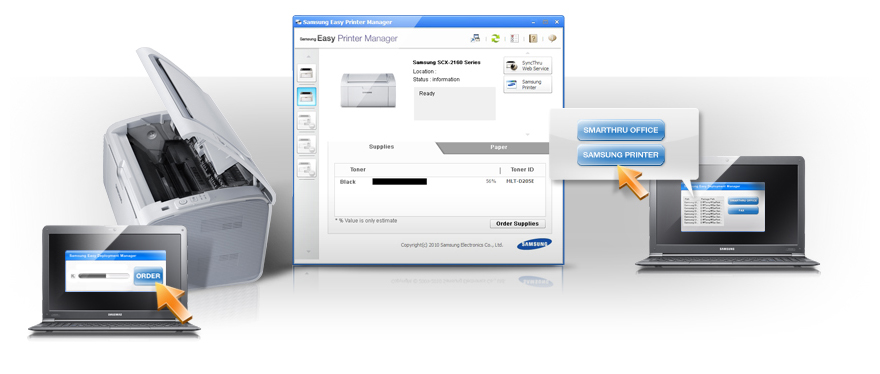 Une installation facile avec le logiciel Easy Printer Manager
