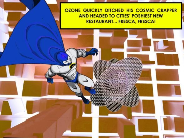 Captain Ozone reprend la tradition des comics américains